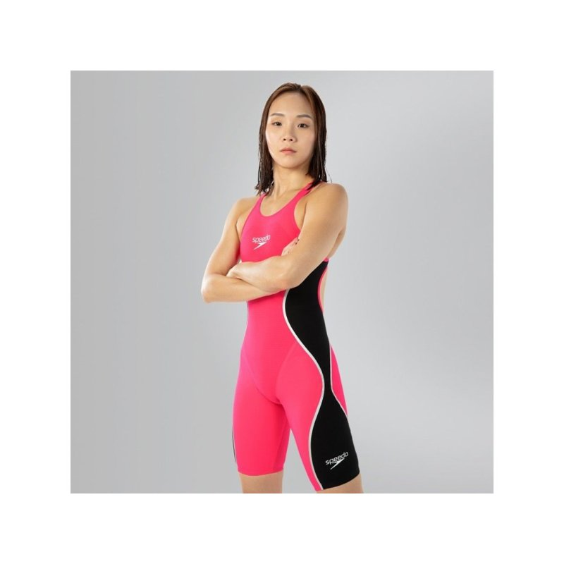 SPEEDO Fastskin LZR Intent Openback Kneeskin Psycho Red Black