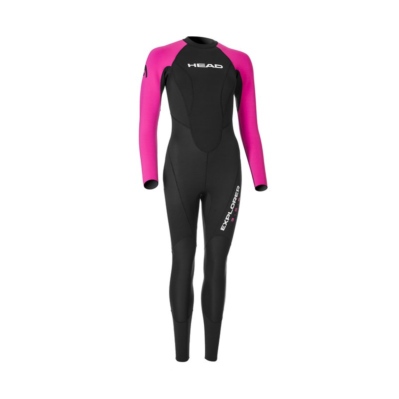 HEAD Explorer Freeswimming Schwarz Pink